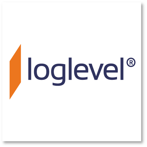 loglevel Logo Square White